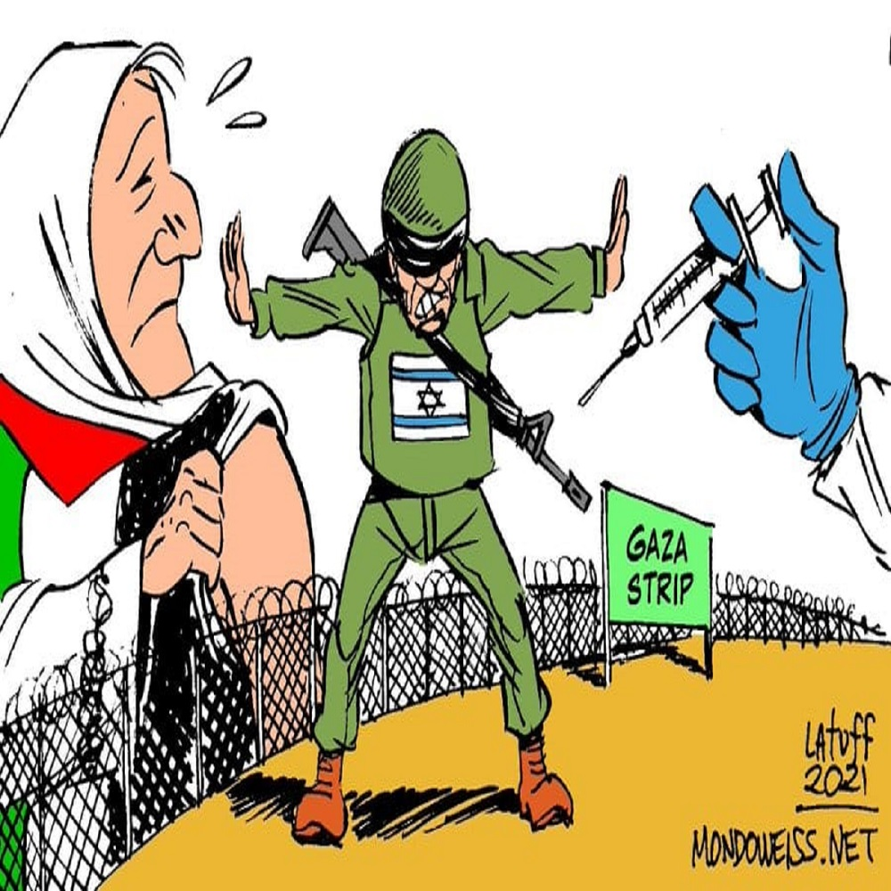 Israel refuses to allow the vaccine to enter Palestine